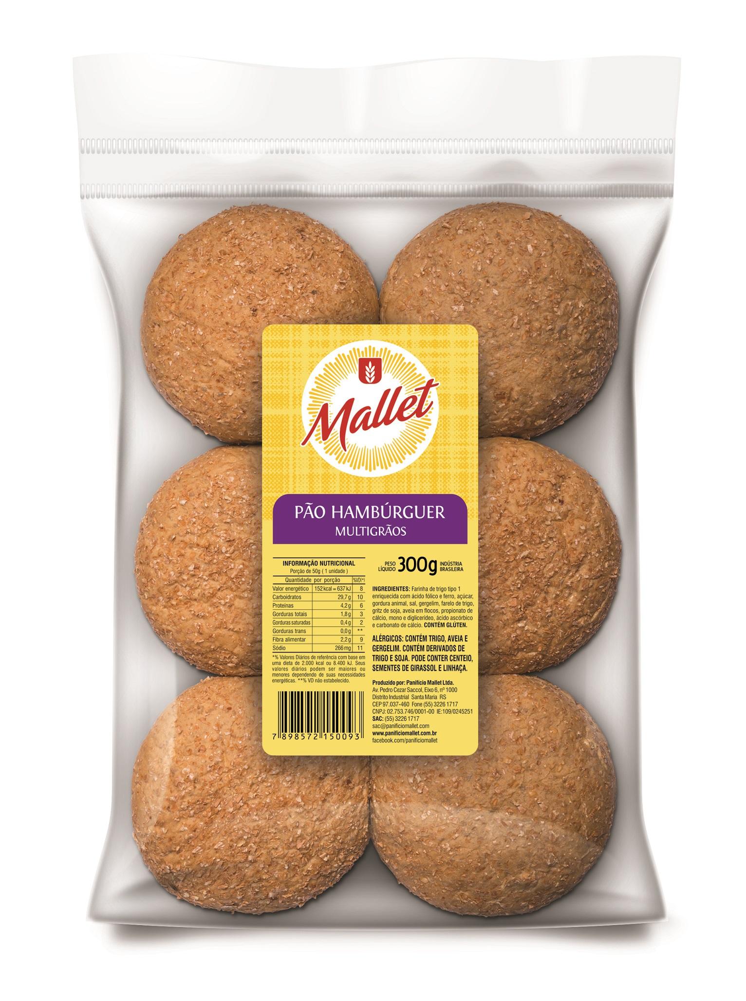 Pães Assados Hambúrguer Multigrãos